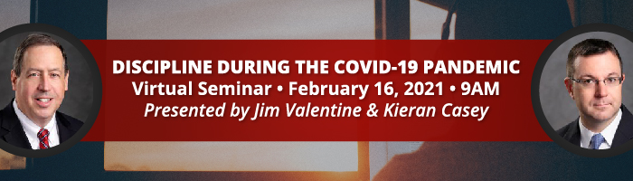 "Jim Valentine and Kieran Casey to Present ""Discipline During the COVID-19 Pandemic"" for NEPA SHRM"