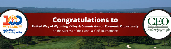 Congratulations to United Way of Wyoming Valley and Commission on Economic Opportunity (CEO) for their annual celebration golf tournament that was held at Wyoming Valley Country Club on May 24th. The proceeds of the tournament will support United Way of Wyoming Valley and CEO and their continued efforts to help at risk children and families in the Wyoming Valley. Our Firm sponsored a foursome for the event, including our own, Paul T. Rushton, the Chair of the 2020 Annual Campaign for the United Way. Thanks again to United Way of Wyoming Valley and CEO for organizing a great event and for all of their important work in our community.