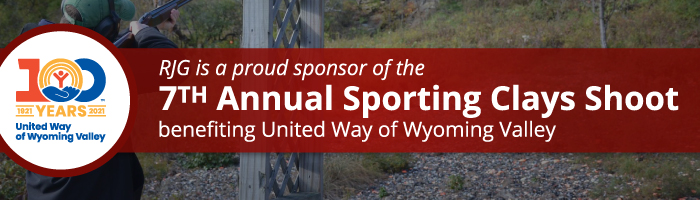 RJG is a Proud Sponsor of the 7th Annual Sporting Clays Shoot Benefitting United Way of Wyoming Valley